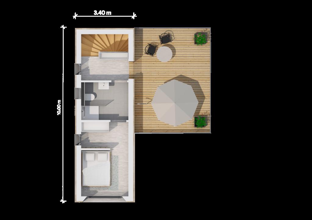 Grundriss (LF Home UP I Style) - bemaßt