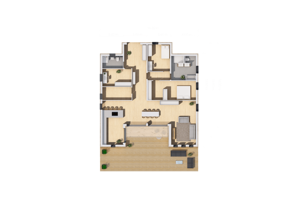 Grundriss (LF Home IV) - bemaßt