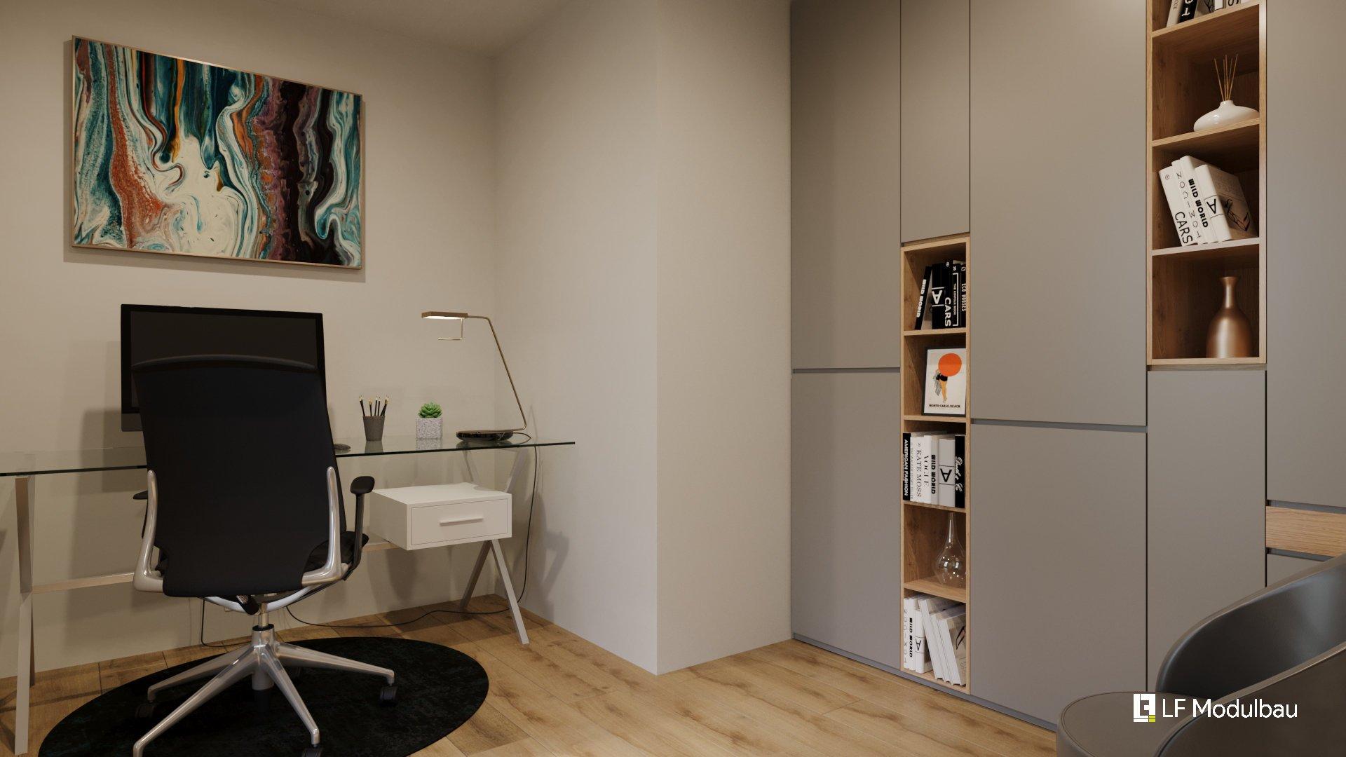 Das Arbeitszimmer unseres Fertighauses in Modulbauweise - LF Home III