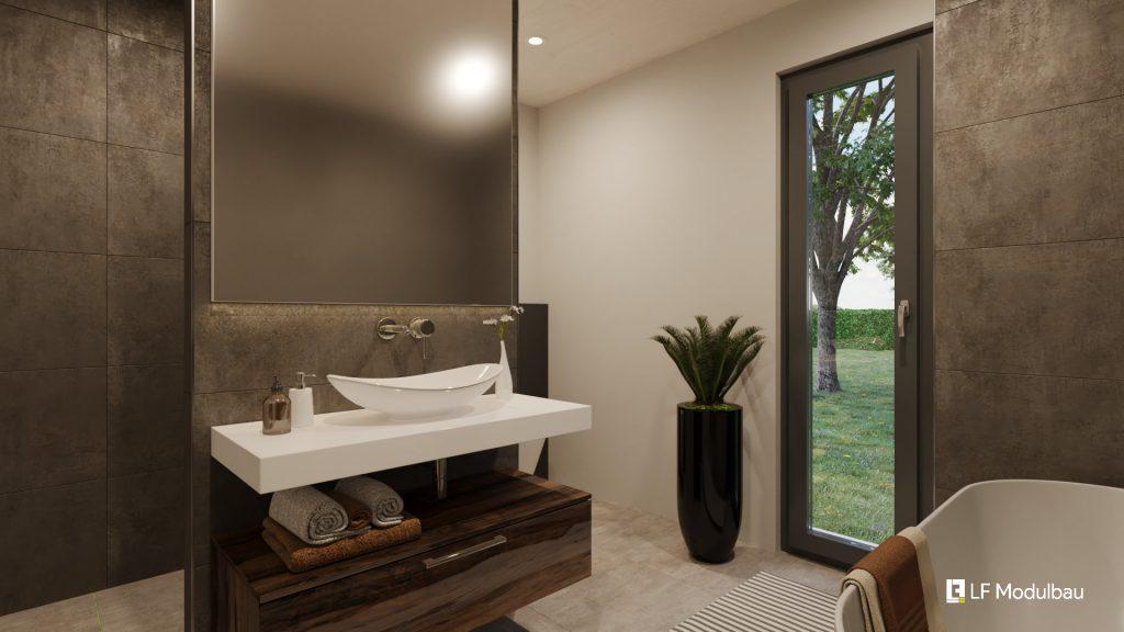 Das Bad unseres Fertighauses in Modulbauweise - LF Home III