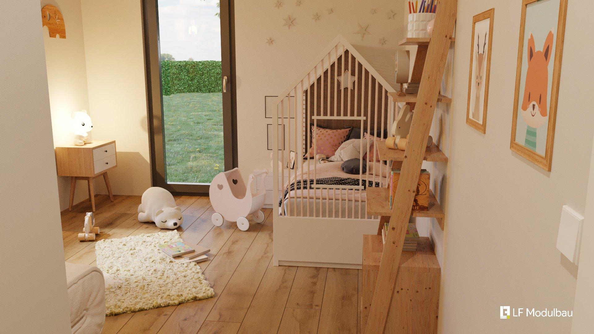Das Kinderzimmer unseres Fertighauses in Modulbauweise - LF Home III