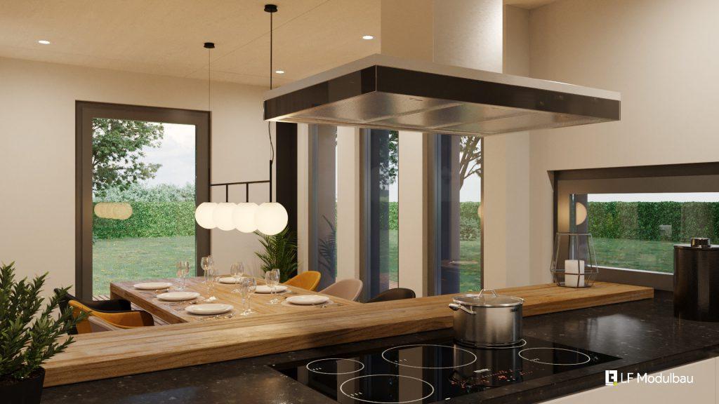 Die Küche unseres Fertighauses in Modulbauweise - LF Home III