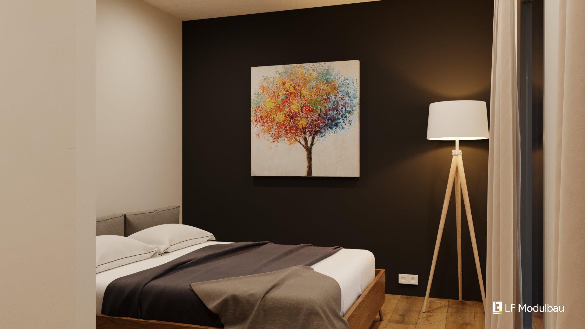 Das Schlafzimmer unseres Fertighauses in Modulbauweise - LF Home III