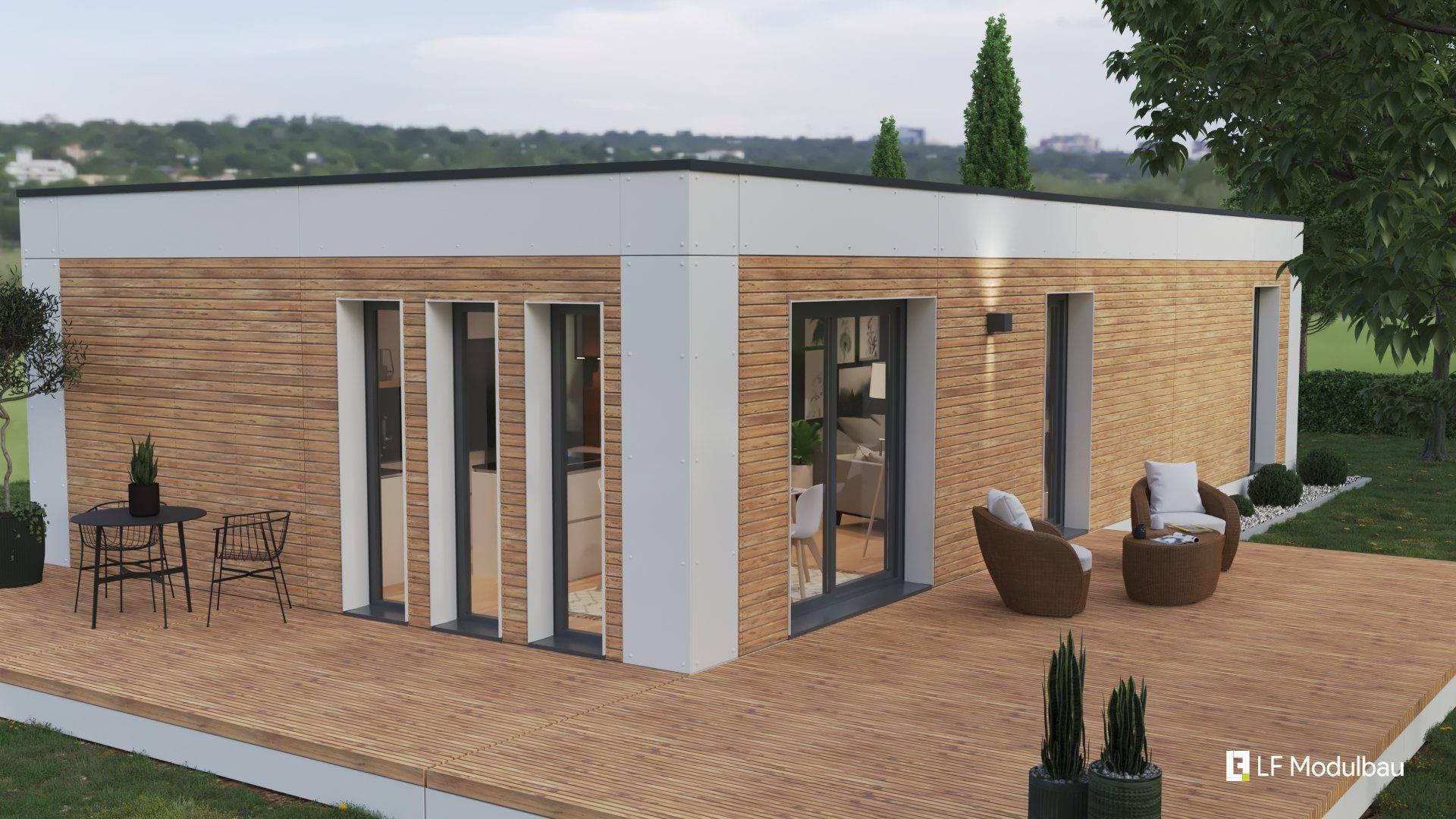 Die Ausstattungsvariante White unseres Fertighauses in modulbauweise - LF Home I