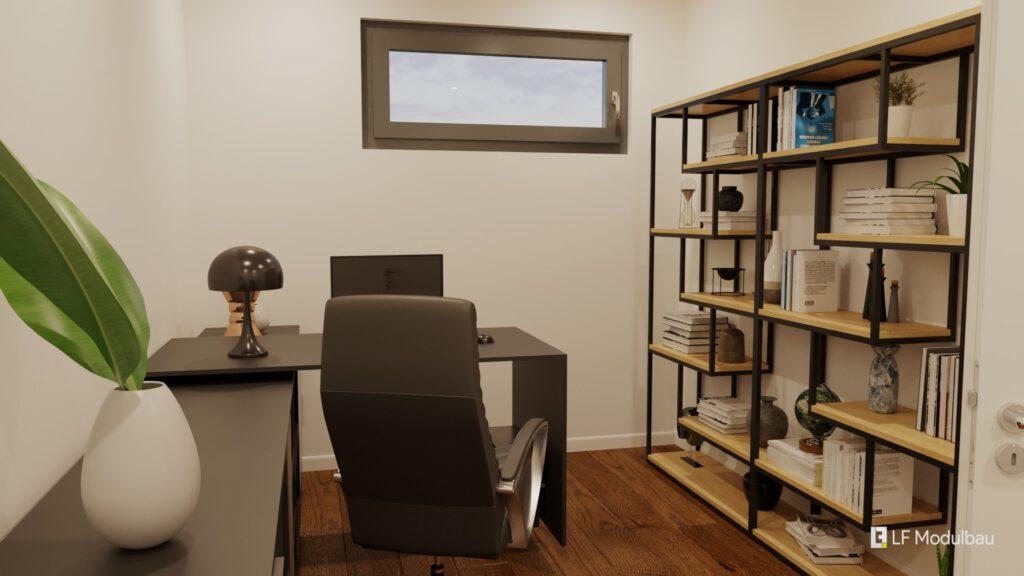 Das Büro unseres Fertighauses in Modulbauweise - LF Home IV