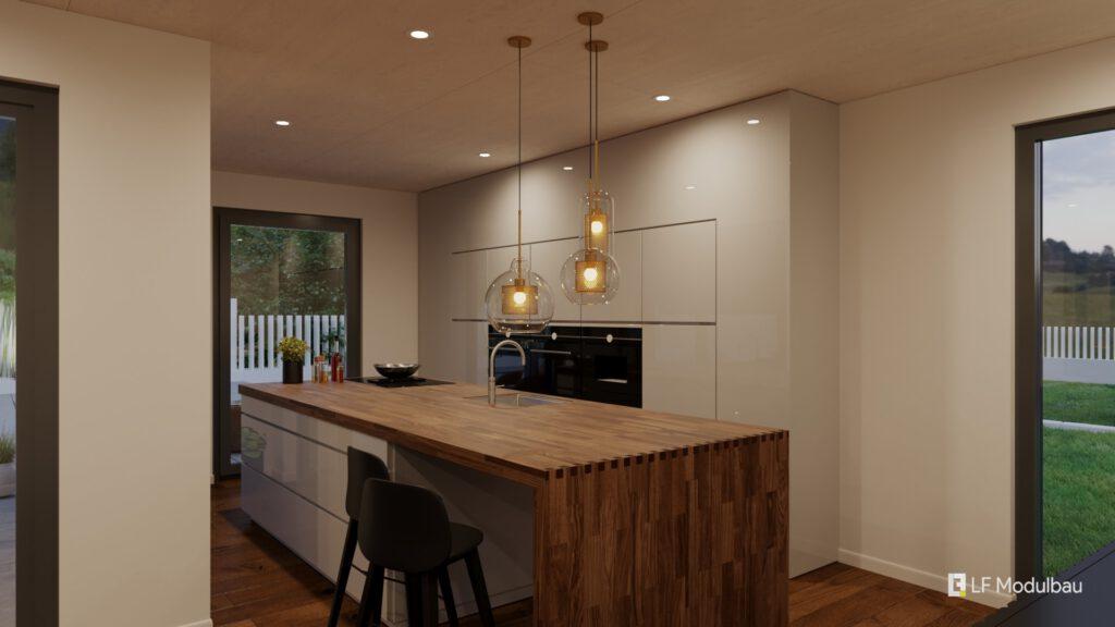 Die Küche unseres Fertighauses in Modulbauweise - LF Home IV