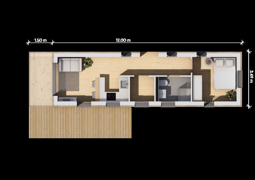 Grundriss 12m (LF Home I)
