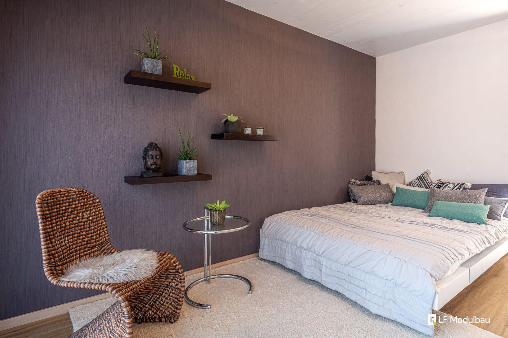 Das Schlafzimmer unseres Fertighauses in Modulbauweise - LF Home V