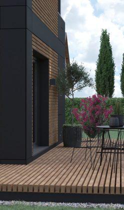 Die Außenansicht unseres Fertighauses in modulbauweise - LF Home UP I Home